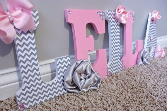 25+ Best Ideas About Wooden Name Letters On Pinterest