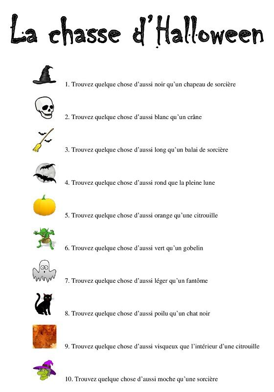 chasse halloween