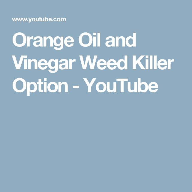 Orange Oil and Vinegar Weed Killer Option - YouTube