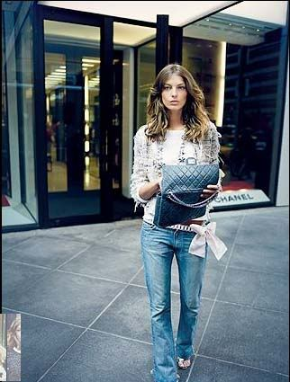 Chanel 2.25 bag. The Reissue. Modelled by Daria Werbowy.