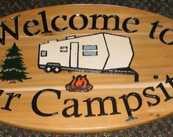 Welcome to our Campsite - Camper - Large Oval