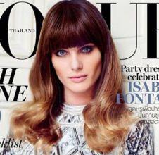Com franja falsa e mechas californianas, Isabelli Fontana posa deslumbrante para a edição de dezembro da Vogue Tailândia