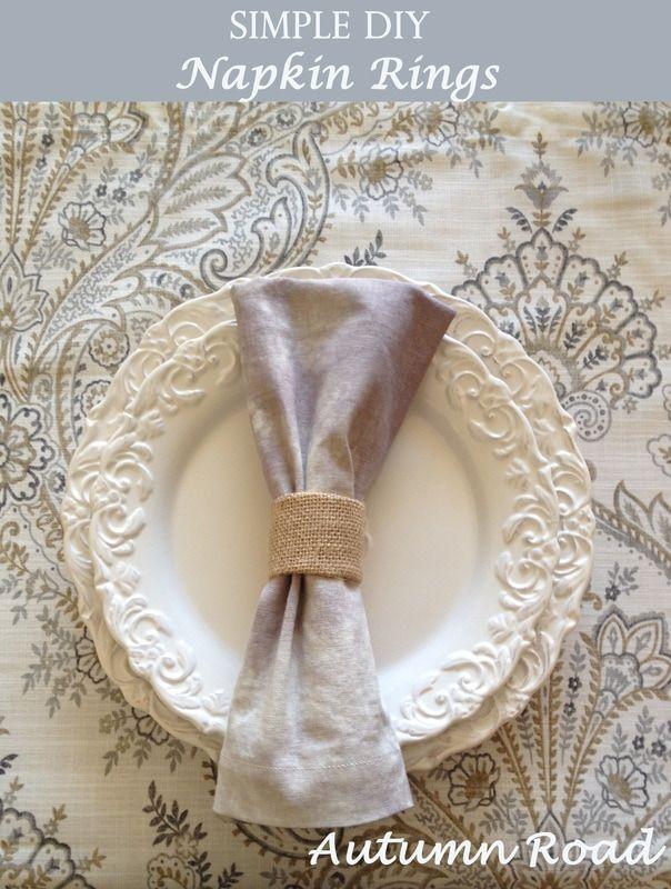 DIY burlap napkin rings TUTORIAL