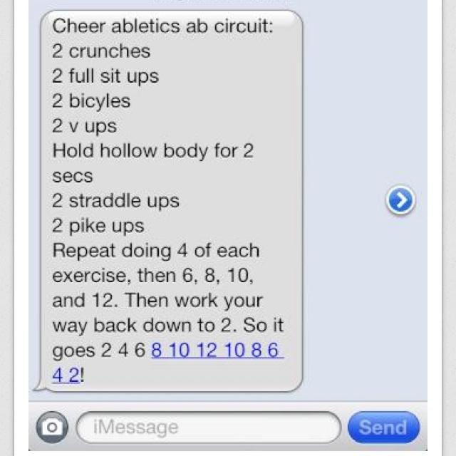 Cheer athletics AB circuit