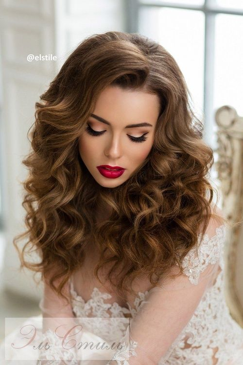 wedding hair for long hair down curls