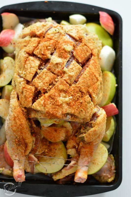 kaczka z jabłkami. Niedzielny obiad.