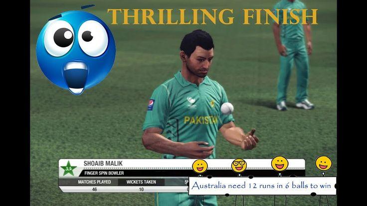 Pakistan Vs Australia - 5 Overs Champions Trophy Match (Shoaib Malik bri...