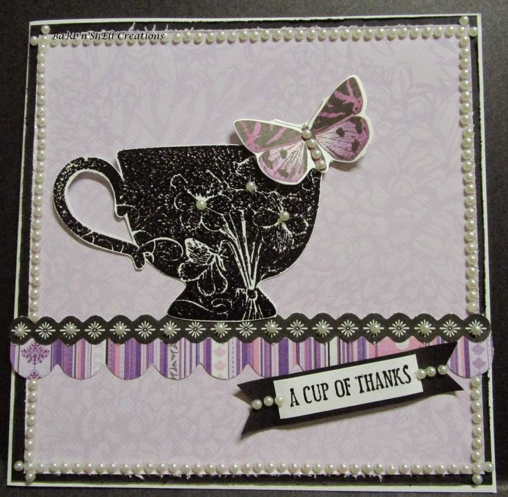 BaRb'n'ShEll Creations: Kaisercraft Violet Crush cards - made by Shell