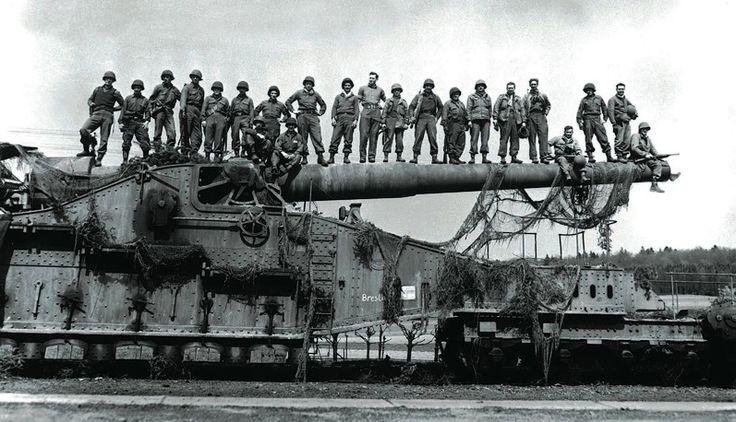 Museu Ferroviário Virtual - Um grande canhão ferroviário em plena Segunda Guerra Mundial (1939-1945)