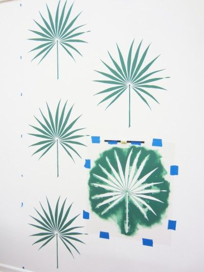 How to stencil the Palmetto Leaf Wall Art Stencil on an accent wall for the tropical decorating trend..  http://www.cuttingedgestencils.com/palm-leaf-stencil-palmetto-wall-decor.html?utm_source=JCG&utm_medium=Pinterest%20Coment&utm_campaign=Palmetto%20Leaf%20Wall%20Art%20Stencil