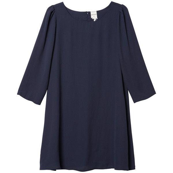 Tallulah dress (1.315 RUB) ❤ liked on Polyvore featuring dresses, vestidos, bluebells at night, three quarter sleeve dress, 3/4 sleeve dress, retro dresses, monki and 3/4 length sleeve dresses