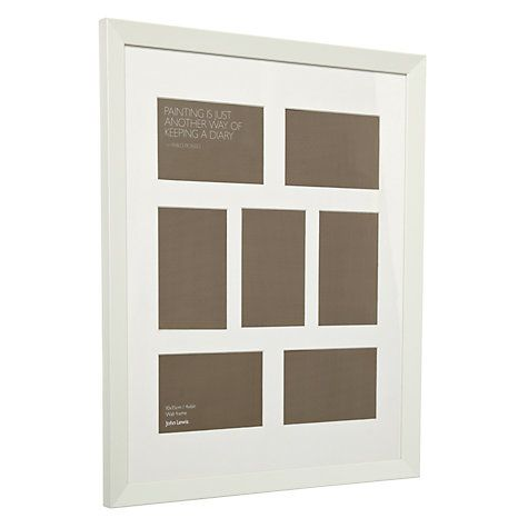 "Buy John Lewis Multi-aperture Gallery Frame, White, 7 Photo, 4 x 6"" (10 x 15cm) Online at johnlewis.com"
