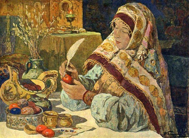 И. С. Горюшкин-Сорокопудов -Канун Пасхи в старину (I. Goriushkin-Sorokopudov)