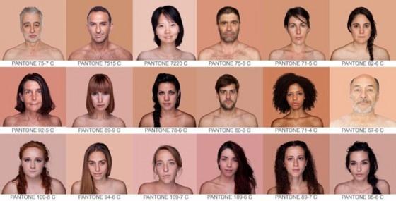 De menselijke huidskleur als pantonekleur #bizar