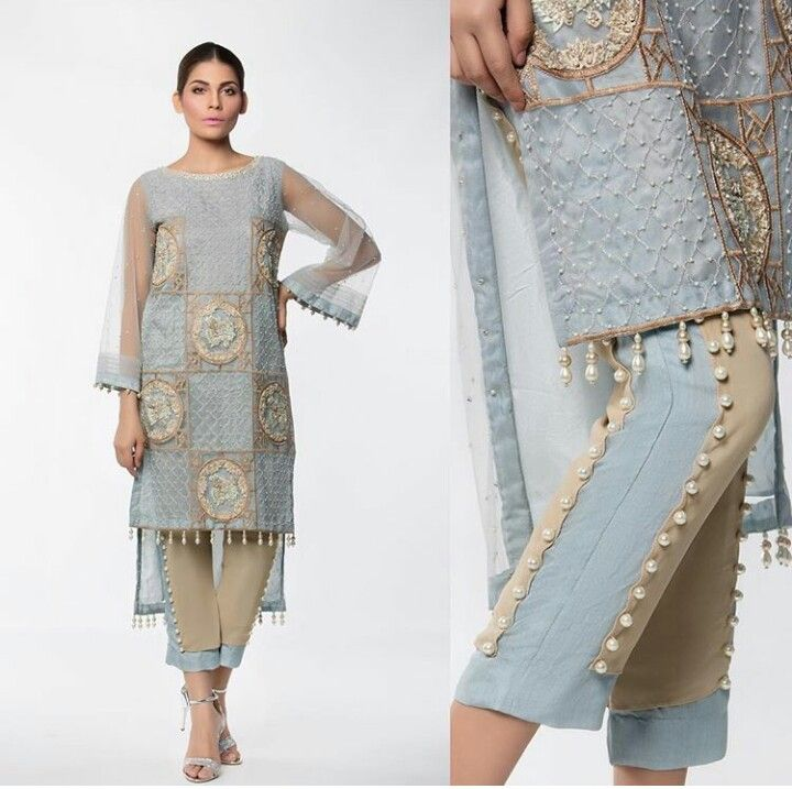Pakistani Eid outfit by Mahgul. Details are amazing.