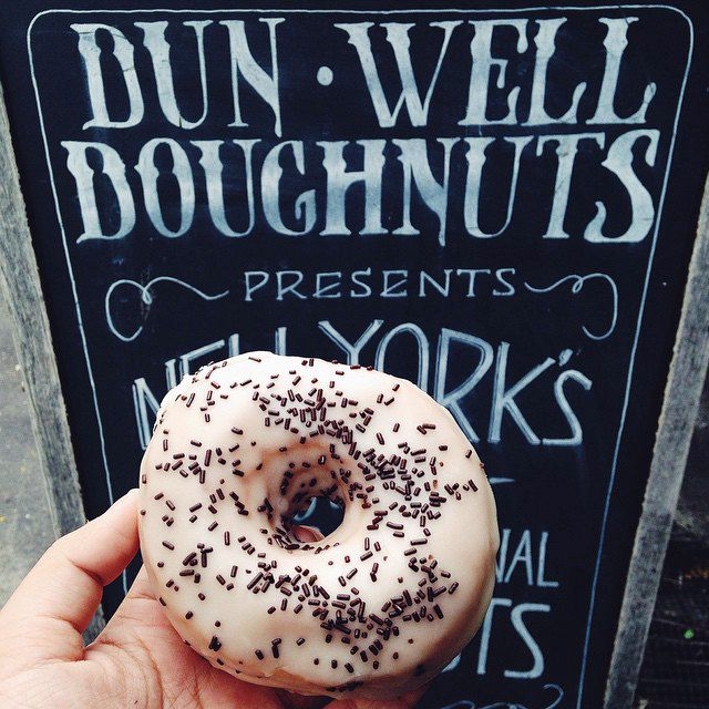The 30 Most Instagrammed Restaurants In NYC #refinery29  http://www.refinery29.com/coolest-nyc-restaurants-instagram#slide12  Dun-Well Doughnuts Make sure to take a pic before devouring that delicious dozen.Dun-Well Doughnuts, 222 Montrose Avenue (between Bushwick Avenue and Humboldt Street), Brooklyn; 347-294-0871.