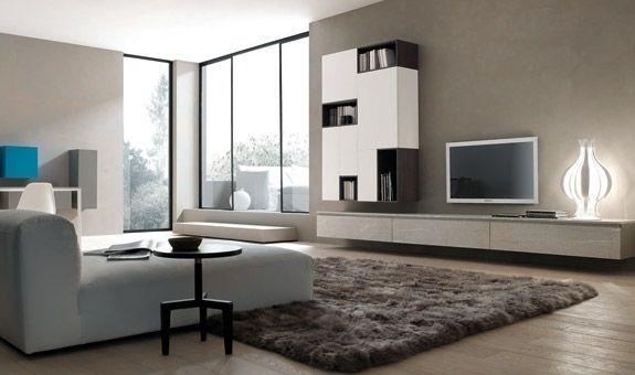 contemporary wooden TV wall system TWENTY MODULNOVA
