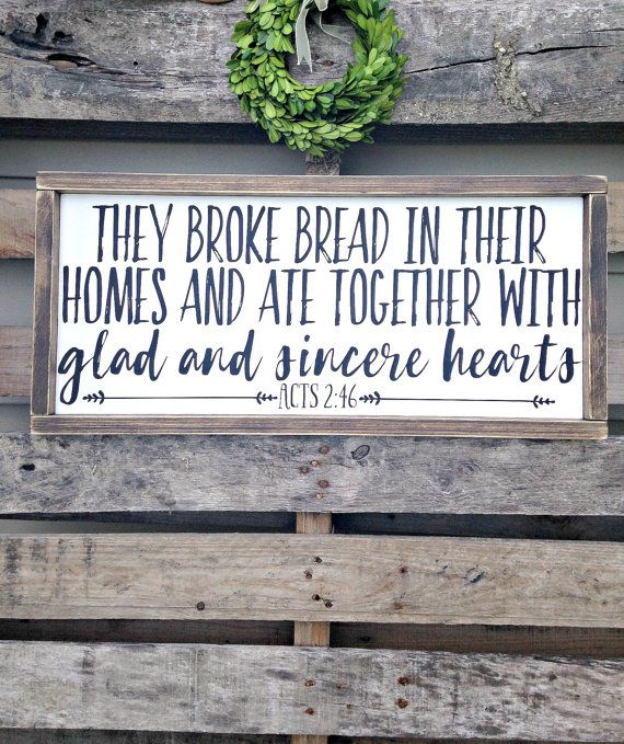 Acts 2:46 They broke bread in their homes by WoodenThatBeSomethin