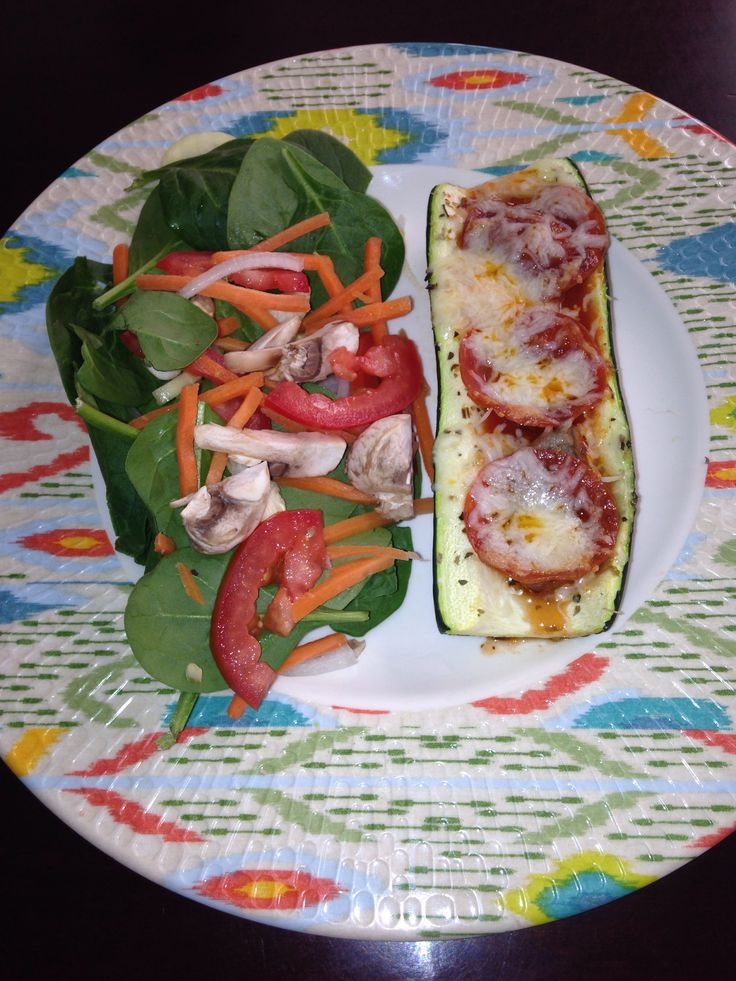 Zucchini Pasta Boats. Cut ends off, then cut in half. Next, I used my ...