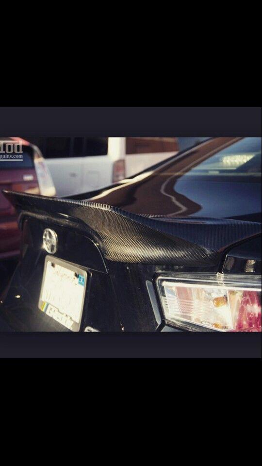Carbon fiber spoiler, Scion Frs
