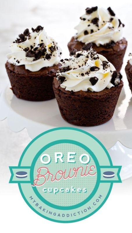 Oreo Brownie Cupcakes - so easy and so delicious!
