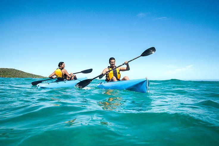 Caiaque é um dos esportes mais praticados pelos turistas - Ilhas Virgens Britânicas
