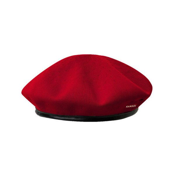 Kangol Tropic Monty ($41) ❤ liked on Polyvore featuring accessories, hats, red, kangol, beret hat, kangol beret, military beret hat and red military beret
