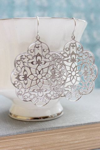 Rose Gold Filigree Earrings - Pretty in Pink Gold