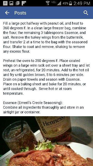 Cajun Fried Turkey Wings  (recipe-#2)