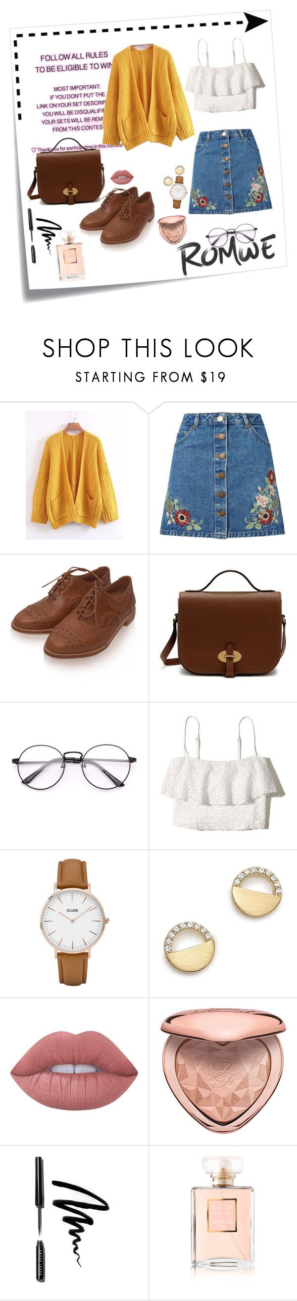 """""""Mustard jumper"""" by gorlmoria ❤ liked on Polyvore featuring Post-It, Miss Selfridge, Mulberry, Hollister Co., CLUSE, Bloomingdale's, Lime Crime, Too Faced Cosmetics, Bobbi Brown Cosmetics and Chanel"""