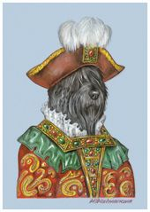 Black Russian Terrier. The Duke | Animal Century Portrait | Dog Art Collection from Animal Century