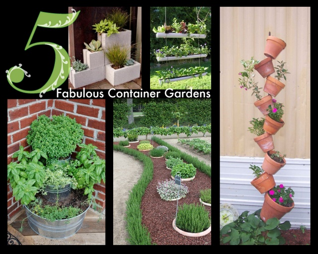 original ideas for container gardens i love the cinder block idea