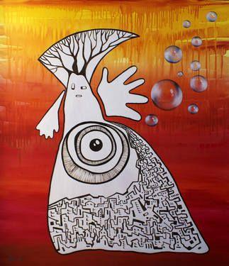 "Saatchi Art Artist Esra Kizir Gokcen; Painting, ""Inner Strength"" #art"