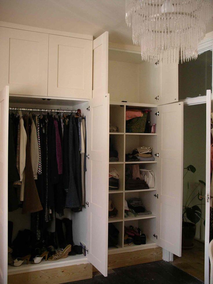 interior of panelled wardrobe