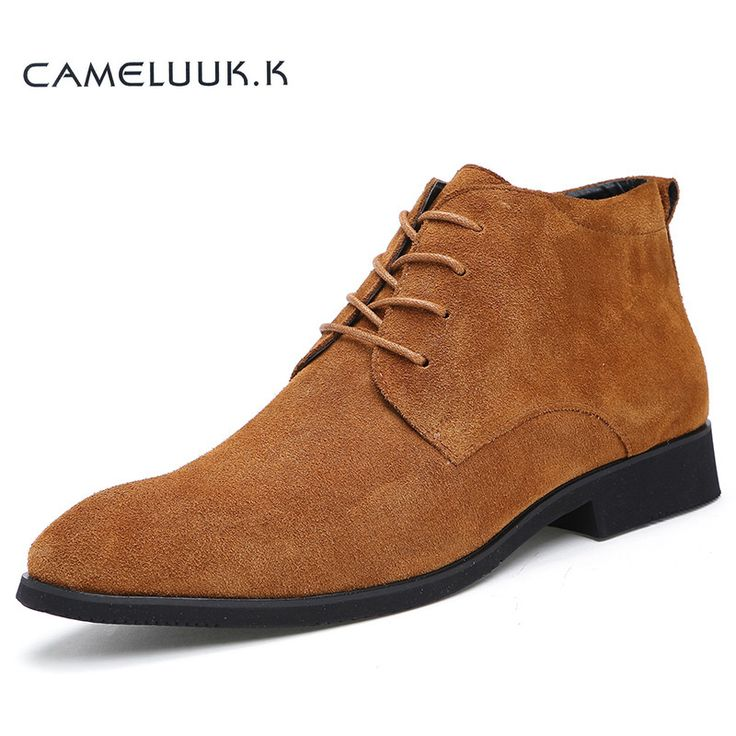 ==> [Free Shipping] Buy Best 2016 New Winter Men Boots High Quality Genuine Leather Men Ankle Boots With Fur British Style Solid Lace-up Men Motorcycle Boots Online with LOWEST Price | 32705883126