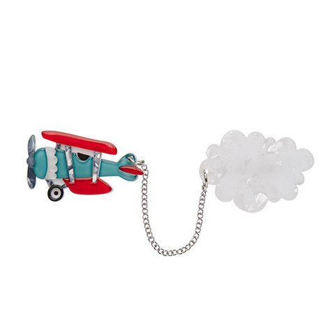 """Erstwilder Limited Edition Captain Cumulus Brooch. """"Have you ever wondered how it is that clouds are formed? Captain Cumulus here is our favoured theory."""""""