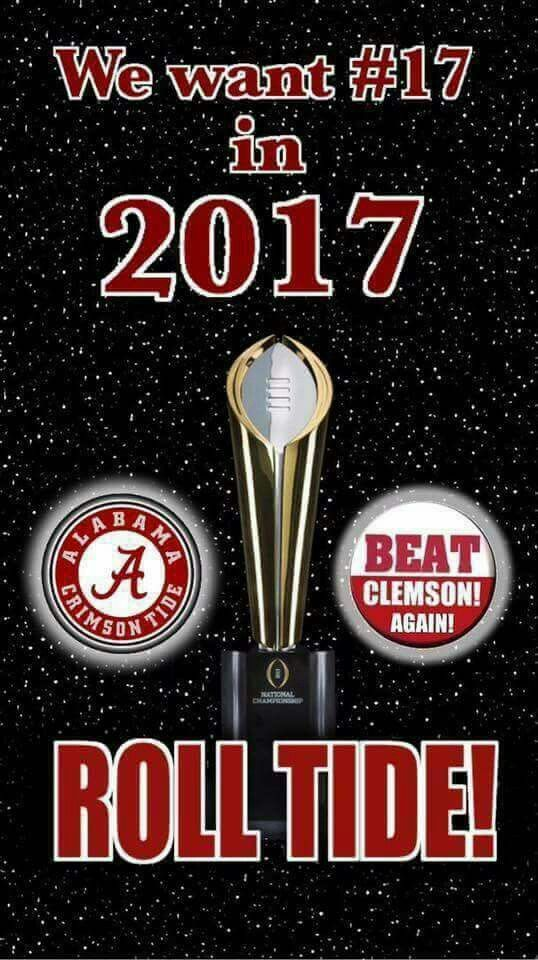 2017 National Championship Alabama Football vs CLEMSON
