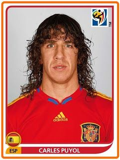 Carles Puyol of Spain. 2010 World Cup Finals card.