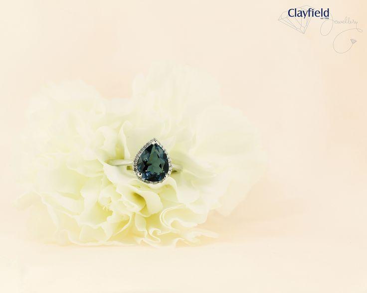 Stunning pear cut topaz and diamond ring, by Clayfield Jewellery in Nundah Village - North Brisbane