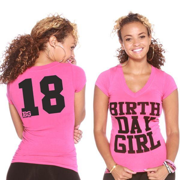 Happy 18th birthday! Celebrate it with a birthday shirt! ONLY $18!!! birthdaygirlworld.com/BdayOutfit