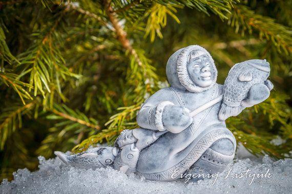 MARBLE Russian Handmade Souvenir Gift Native Siberian Fisherman on Etsy, 26,99$
