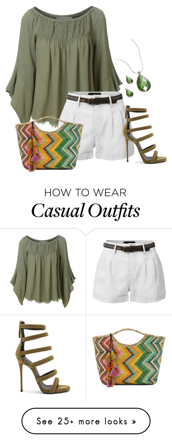 """""""Untitled #1066"""" by marlaj-50 on Polyvore featuring LE3NO, Banago, Giuseppe Zanotti and Kim Rogers"""