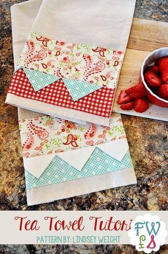Tea Towel Pattern FREE DOWNLOAD