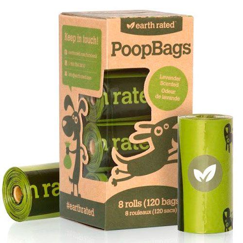 Repuesto con 8 rollos de bolsitas ecológicas con aroma a lavanda.