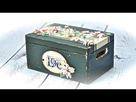 Decoupage 3D Sospeso na tkaninie - tutorial DIY - YouTube