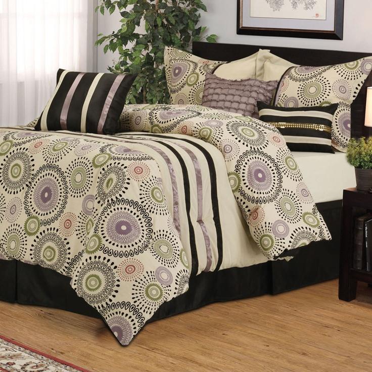Heather 7 Piece Flocked Comforter Set Home Pinterest