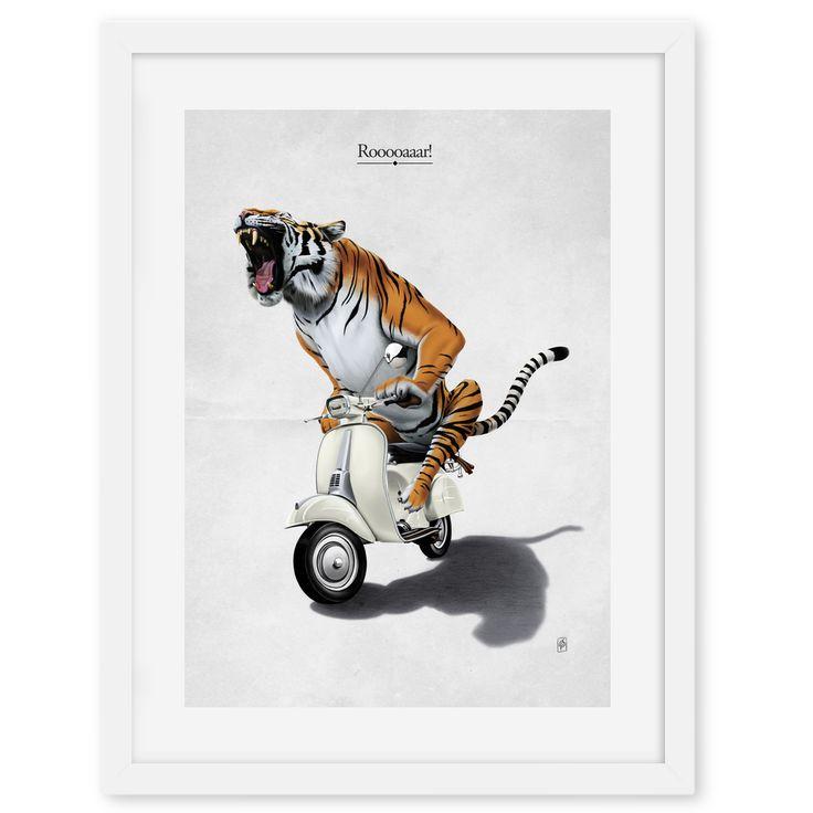 Rooooaaar! art | decor | wall art | inspiration | animals | home decor | idea | humor | gifts