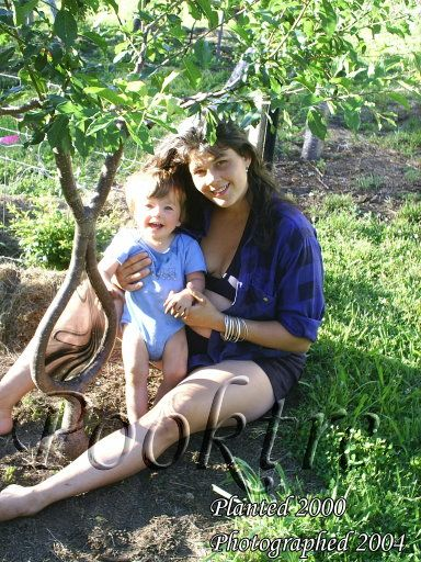 This is Becky Northey with her Son at pooktre garden.