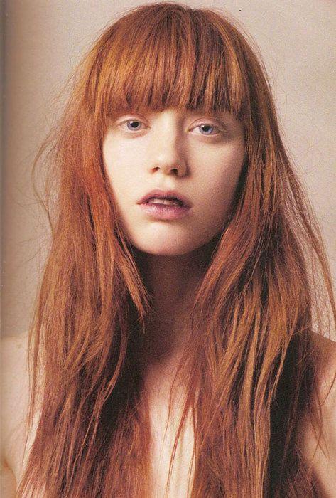 Ultimate hair: Hair Beautiful, Hair Colors Ideas, Hair Weaving, Red Hair, Red Bangs, Redheads, Redhair, Fringes, Red Head