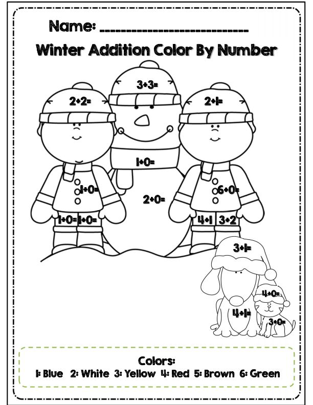 First Grade Winter Math and ELA Packet Common Core Aligned – Winter Math Worksheets First Grade